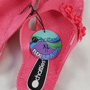 54af842c3511 chatties Shoes - Flamingo Pink Flower Flip Flop Sandals